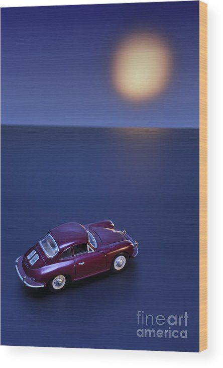 Automobile Wood Print featuring the photograph Faster Finding The Sunset by Josep Maria Penalver