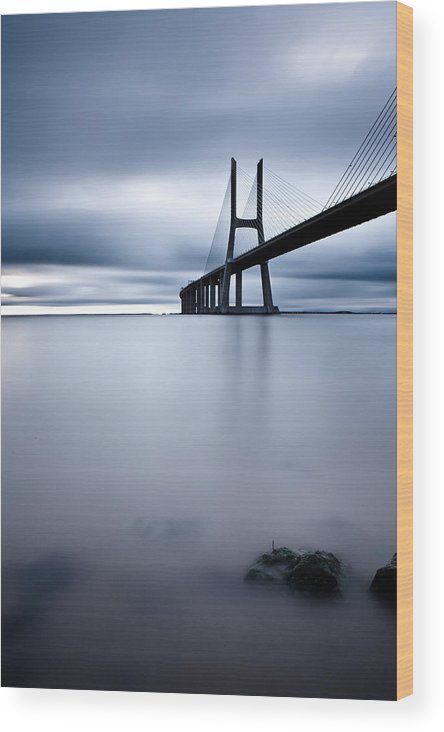 Lisbon Wood Print featuring the photograph Feeling Blue by Jorge Maia