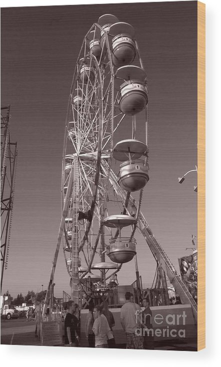 Carnival Wood Print featuring the photograph Ferris Wheel 1 by September Stone