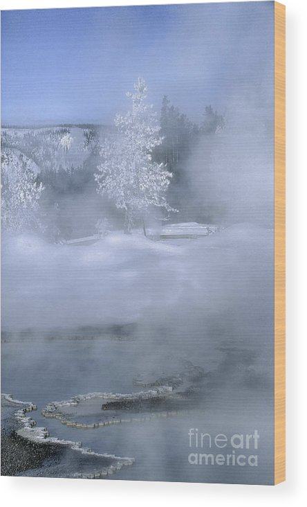 Yellowstone Wood Print featuring the photograph Fire And Ice II - Yellowstone by Sandra Bronstein