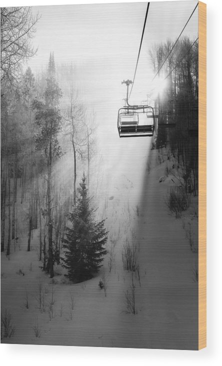 Vail Wood Print featuring the photograph First Chair by Sean McClay