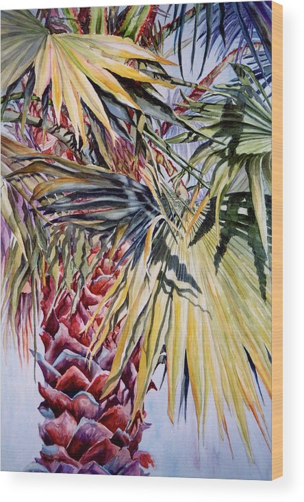 Palmetto Wood Print featuring the painting Florida's Pride by Roxanne Tobaison