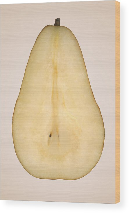 Chef Wood Print featuring the photograph Food - Fruit - A Slice Of Bosc Pear by Mike Savad