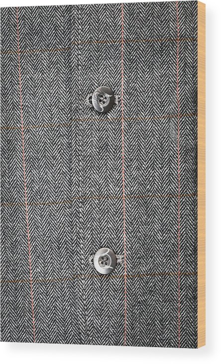 Background Wood Print featuring the photograph Formal Jacket by Tom Gowanlock