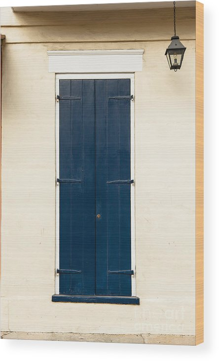 New Orleans Wood Print featuring the photograph French Quarter Door - 32 by Susie Hoffpauir