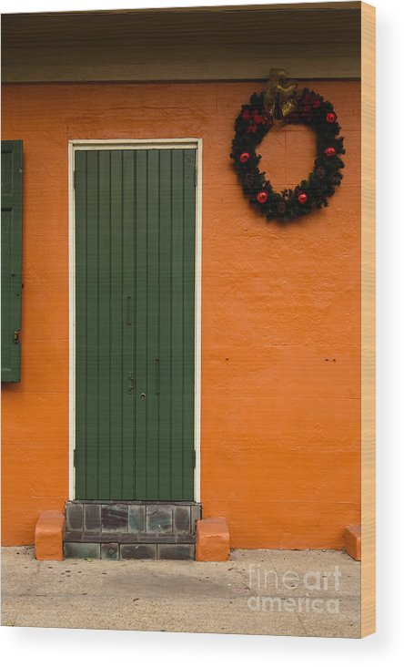 New Orleans Wood Print featuring the photograph French Quarter Door - 33 by Susie Hoffpauir