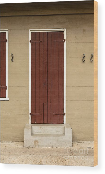 New Orleans Wood Print featuring the photograph French Quarter Door - 34 by Susie Hoffpauir