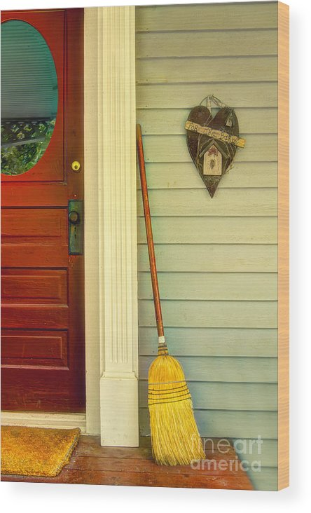 Broom Wood Print featuring the photograph Front Porch by Margie Hurwich