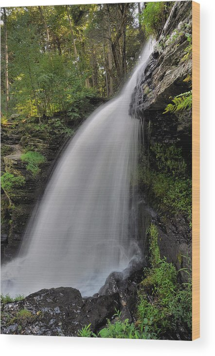 Waterfall Wood Print featuring the photograph Fulmer Falls by Stephen Vecchiotti
