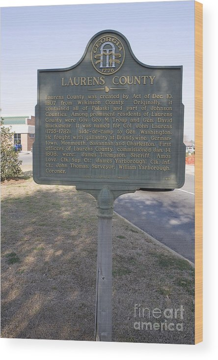 Travel Wood Print featuring the photograph Ga-87-2 Laurens County by Jason O Watson
