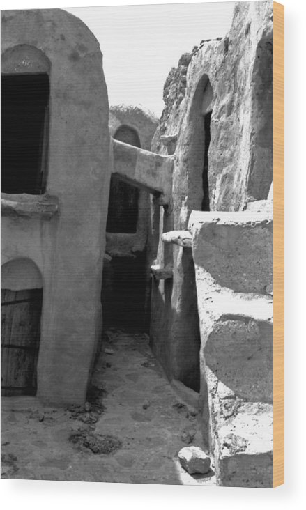 Tunisia Wood Print featuring the photograph Ghorfas Two by James Bryant