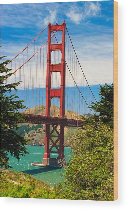 Architecture Wood Print featuring the photograph Golden Gate Bridge by Raul Rodriguez