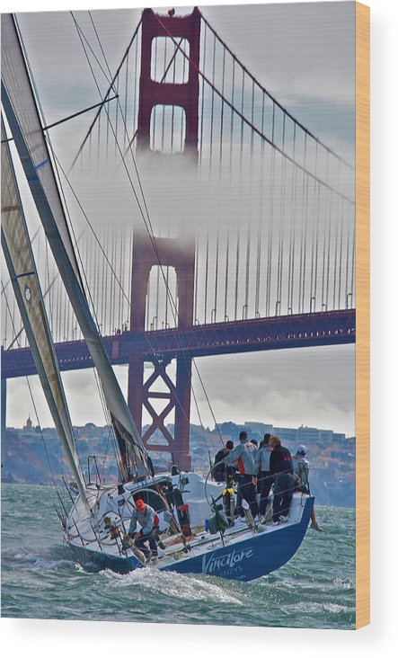 Sailing Wood Print featuring the photograph Golden Gate Sailing by Steven Lapkin