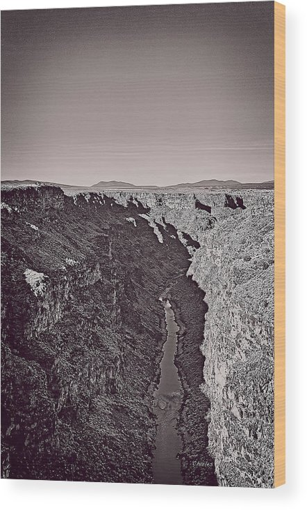 Rio Wood Print featuring the mixed media Gorge by Charles Muhle