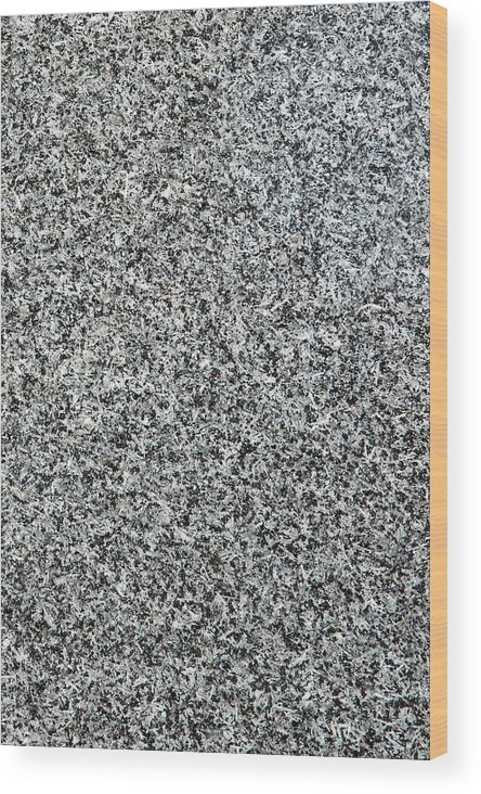 Abstract Wood Print featuring the photograph Gray Granite by Alexander Senin
