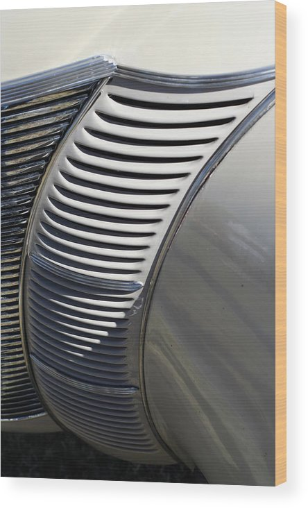 Automobile Wood Print featuring the photograph Grill Work by Joe Kozlowski