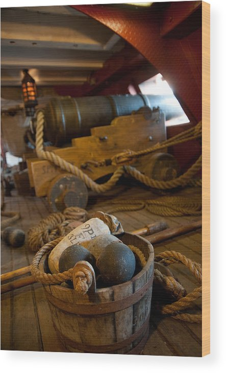 Nautical Wood Print featuring the photograph Gunnery Port by Clifford Beck