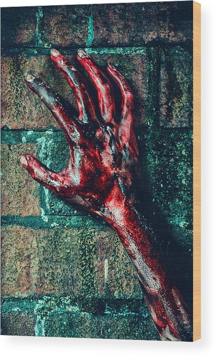Woman Wood Print featuring the photograph Hand by Innershadows Photography