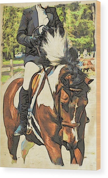 Horse Wood Print featuring the photograph Hang On Tight To Your Painted Horse by Alice Gipson