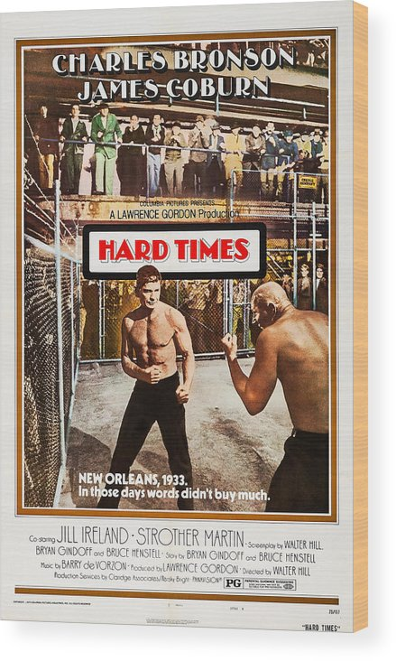 1970s Poster Art Wood Print featuring the photograph Hard Times, Us Poster Art, Front by Everett