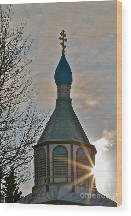 Church Wood Print featuring the photograph Heavenly Light by Rick Monyahan