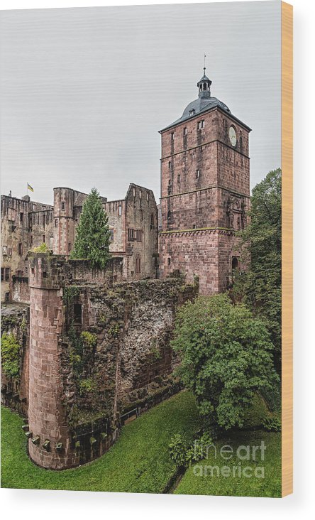 Heidelberg Wood Print featuring the photograph Heidelberg Castle- A by Rhonda Krause