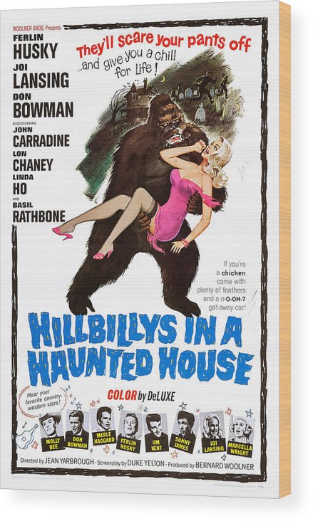 1960s Movies Wood Print featuring the photograph Hillbillys In A Haunted House, Bottom by Everett