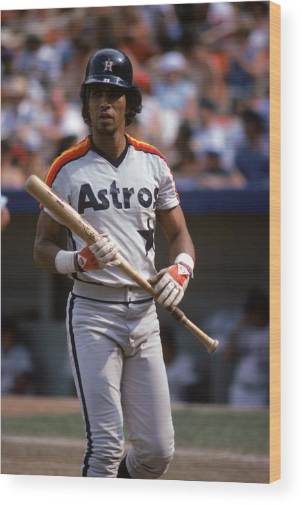1980-1989 Wood Print featuring the photograph Houston Astros by Rich Pilling