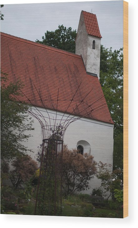 Chapel Wood Print featuring the photograph Idyllic Chapel by Frank Gaertner