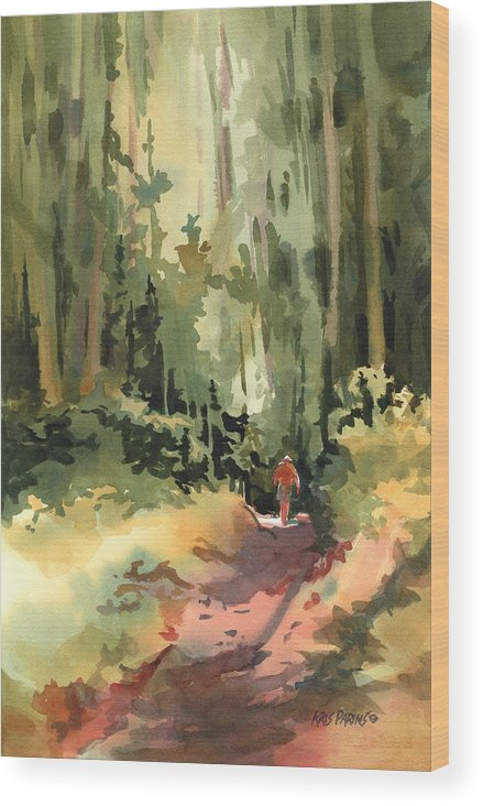 Kris Parins Wood Print featuring the painting Into The Wild by Kris Parins