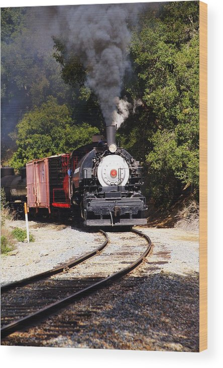 Steam Locomotive Wood Print featuring the photograph Iron Road History by Michael Courtney