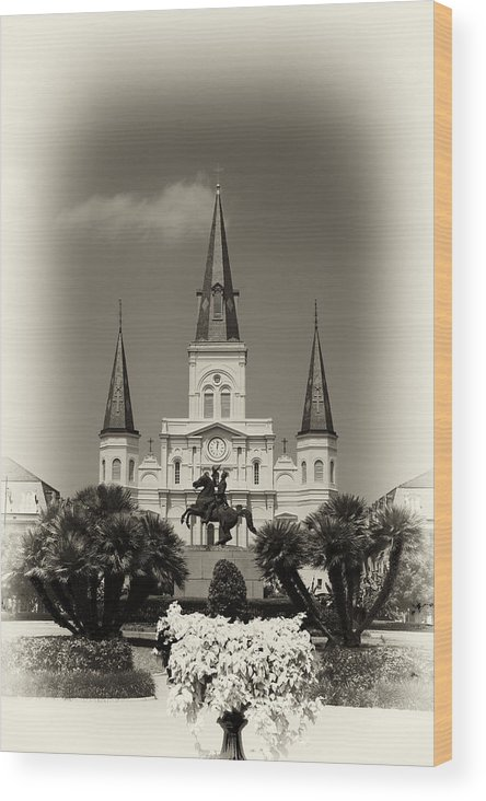 Nola Wood Print featuring the photograph Jackson Square by Jason Horne