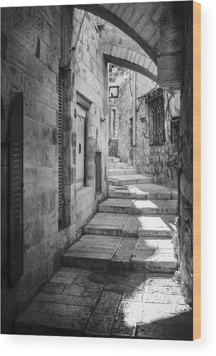 Israel Wood Print featuring the photograph Jerusalem Street by Alexey Stiop