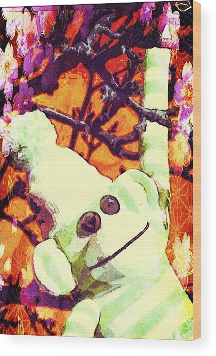 Painting Wood Print featuring the mixed media Just Hangin' by Jessica Lea