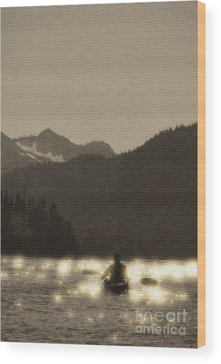 Kachemak Bay Wood Print featuring the photograph Kayaking On Kachemak Bay by Dan Friend