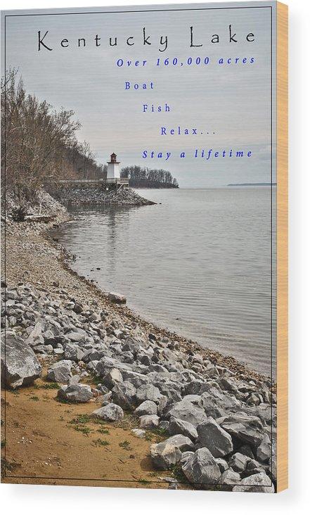 Kentucky Lake Inlet Lighthouse Travel Wood Print featuring the photograph Kentucky Lake Inlet Lighthouse Travel by Greg Jackson