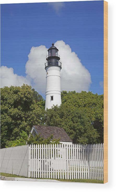 Key West Wood Print featuring the photograph Key West Lighthouse by John Stephens