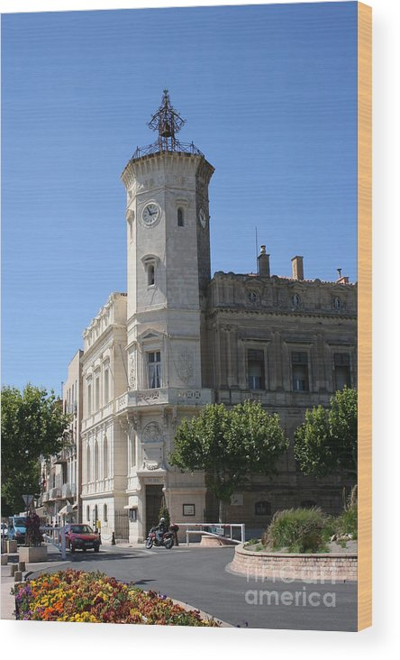 City Hall Wood Print featuring the photograph La Ciotat Provence- Alpes- Cote D'azur by Christiane Schulze Art And Photography