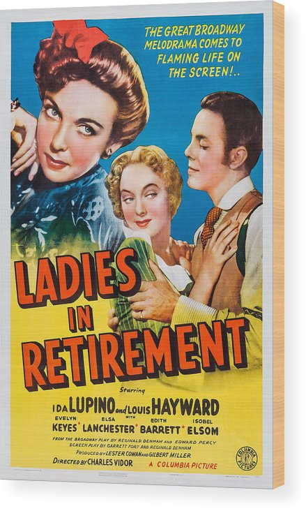 1940s Movies Wood Print featuring the photograph Ladies In Retirement, Us Poster, Ida by Everett