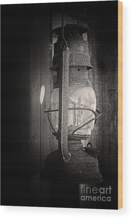 Lantern Wood Print featuring the photograph In A Different Time by Inge Riis McDonald