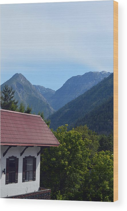 Leavenworth Wood Print featuring the photograph Leavenworth by Carol Eliassen