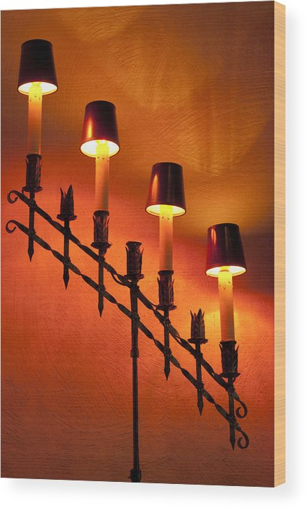 Lamps Wood Print featuring the photograph Light Cascade by Clifford Beck