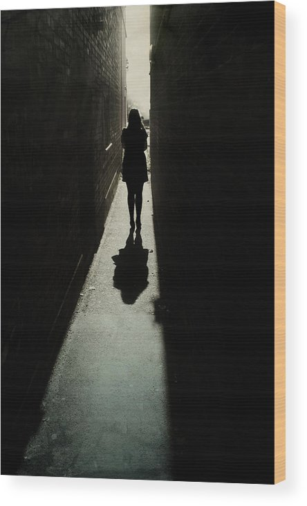 Woman Wood Print featuring the photograph Light by Cambion Art