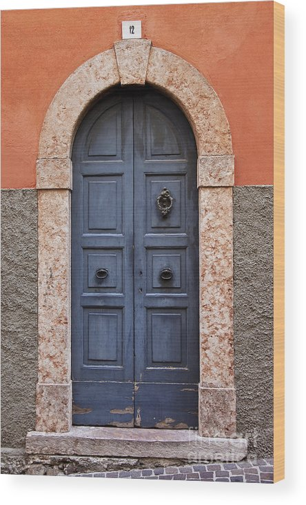 Wood Door Wood Print featuring the photograph Limone Door by Brian Jannsen
