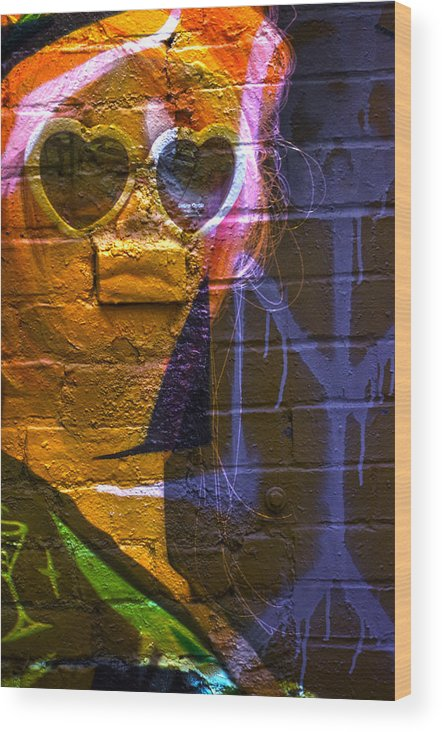 Abstract Art Wood Print featuring the photograph Liquid Lips by The Artist Project