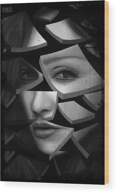 Madonna Wood Print featuring the painting Madonna by Paul Riesser