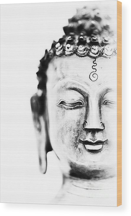Medicine Wood Print featuring the photograph Medicine Buddha by Tim Gainey