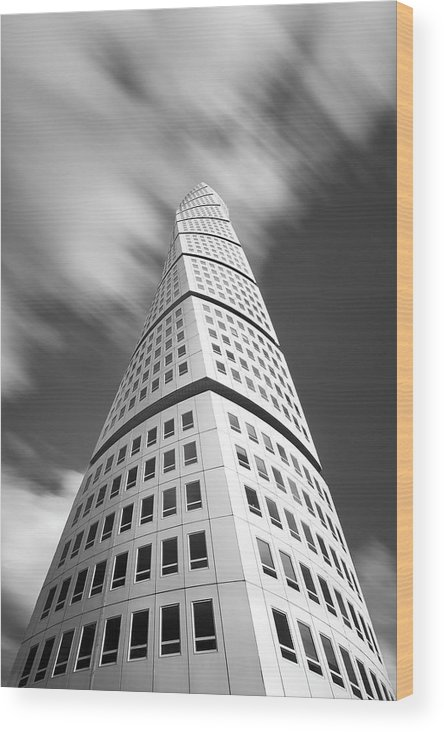 Turning Torso Wood Print featuring the photograph Modern Sweden by Christian Lindsten
