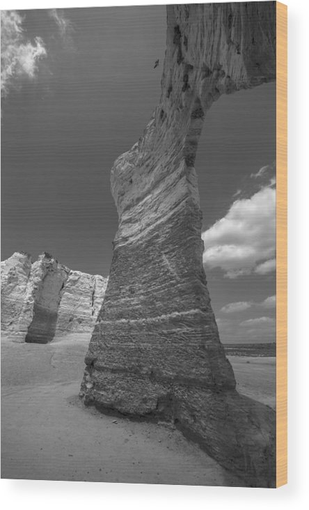Rock Formation Wood Print featuring the photograph Monument Arch by Garett Gabriel