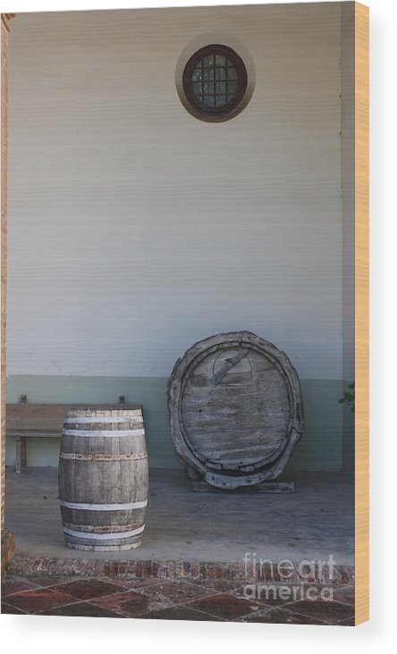 Exterior Of Building Wood Print featuring the photograph Moonshine... by Dennis Curry